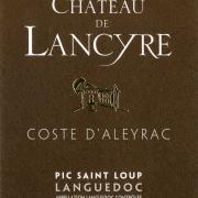 Etiquette de Coste d Aleyrac vin rouge Chateau de Lancyre AOC Coteaux du Languedoc Pic Saint Loup
